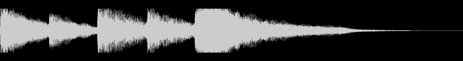 【7秒】シンプルなピアノジングルの未再生の波形