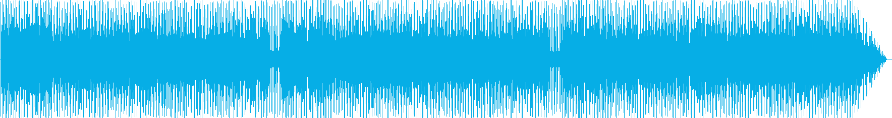 パンフルートがメインのハネている曲の再生済みの波形