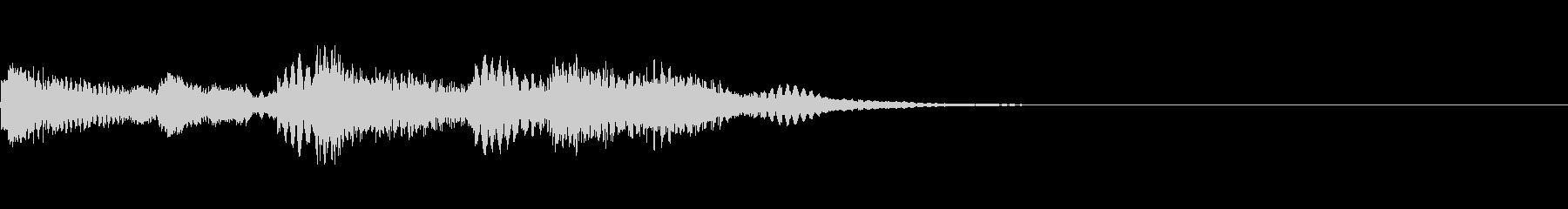 シンプルかつ軽やかなピアノジングルの未再生の波形