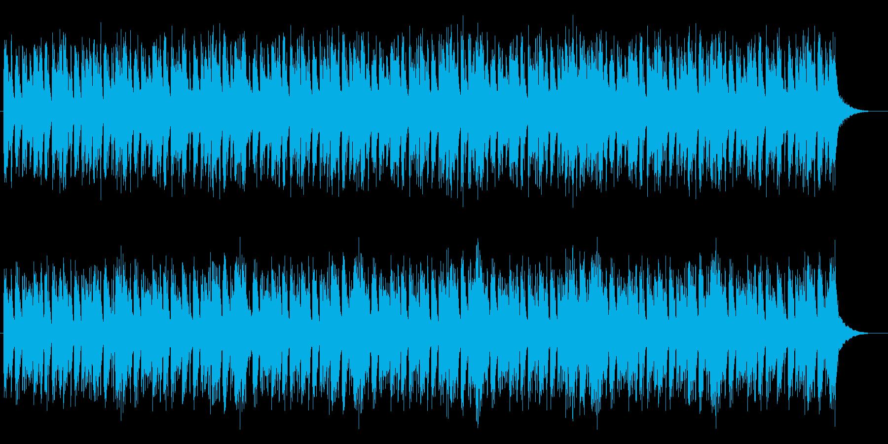 バイオリンとパーカッションによるBGMの再生済みの波形