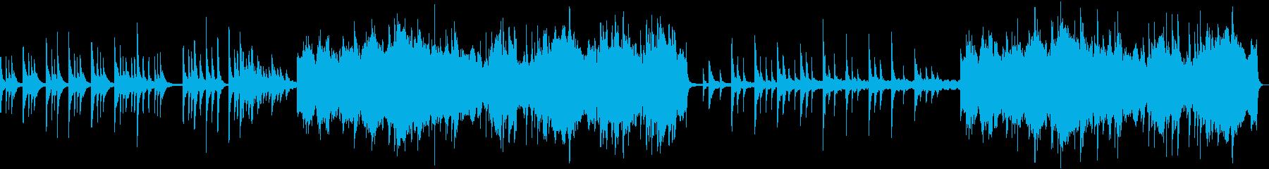 刻々と旋律を刻む静かで力強いピアノ音楽の再生済みの波形