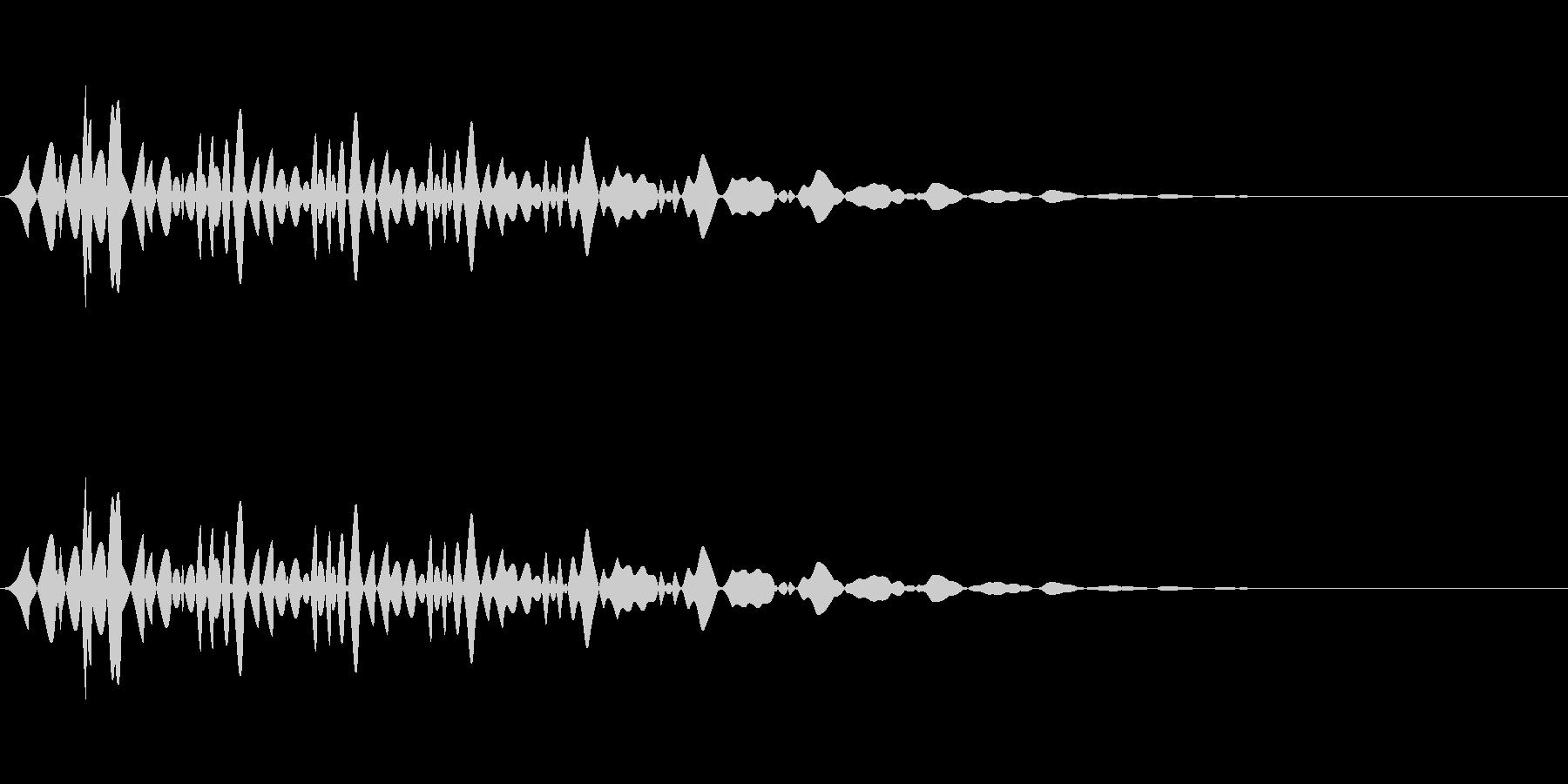 ブンッ(メニュー/キャンセル/選択の未再生の波形