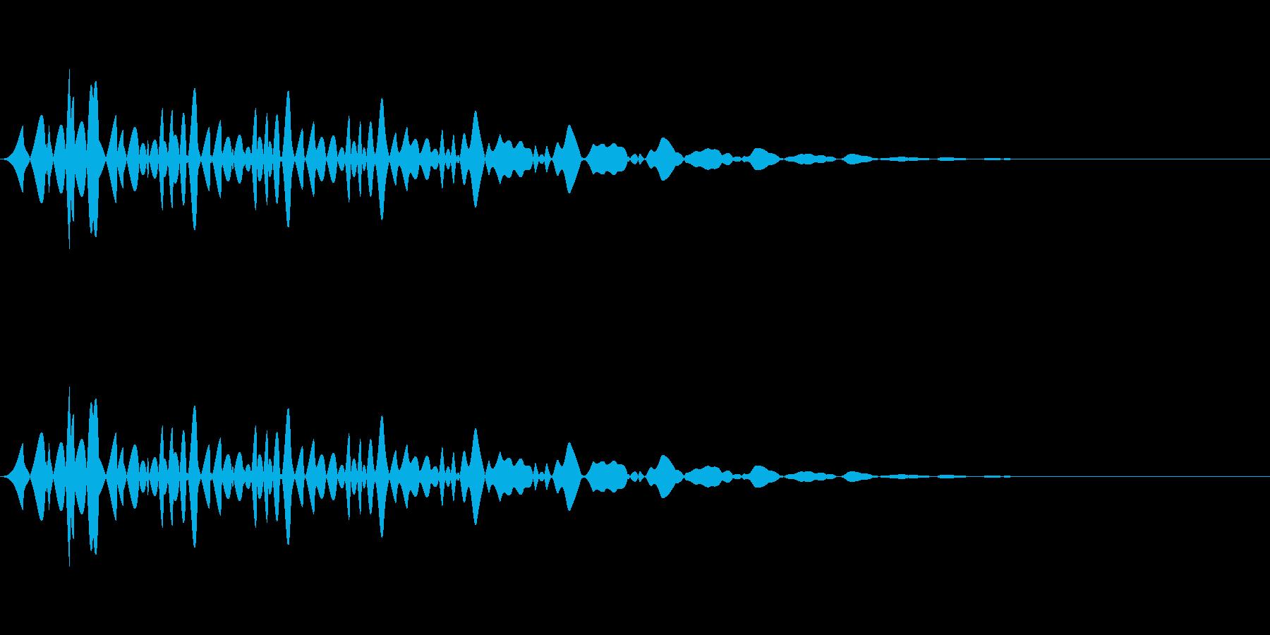 ブンッ(メニュー/キャンセル/選択の再生済みの波形