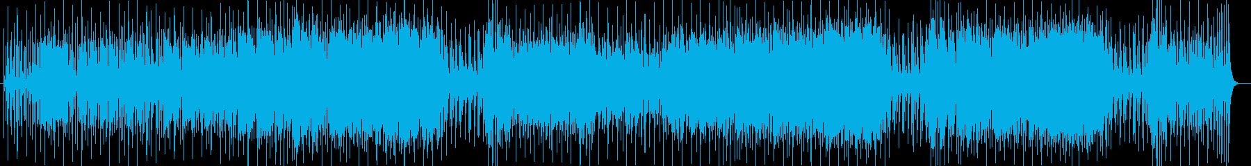 ゆったり感シンセサイザー打楽器サウンドの再生済みの波形