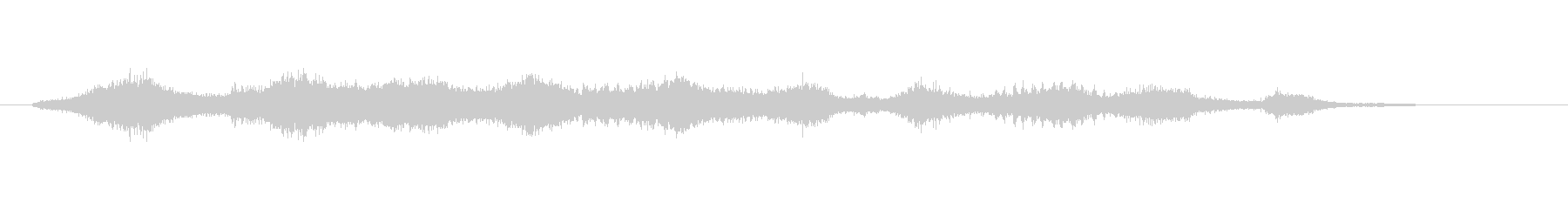 波の音と鳥のさえずりの未再生の波形
