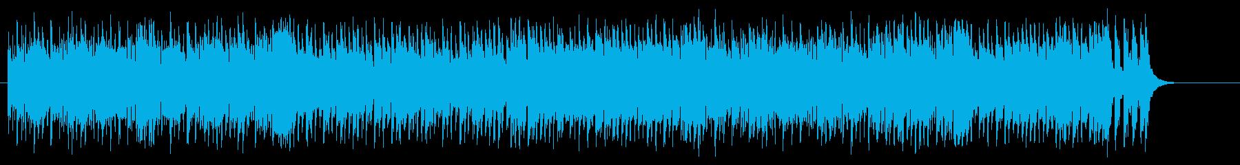 コミカル・タッチの軽快なポップスの再生済みの波形