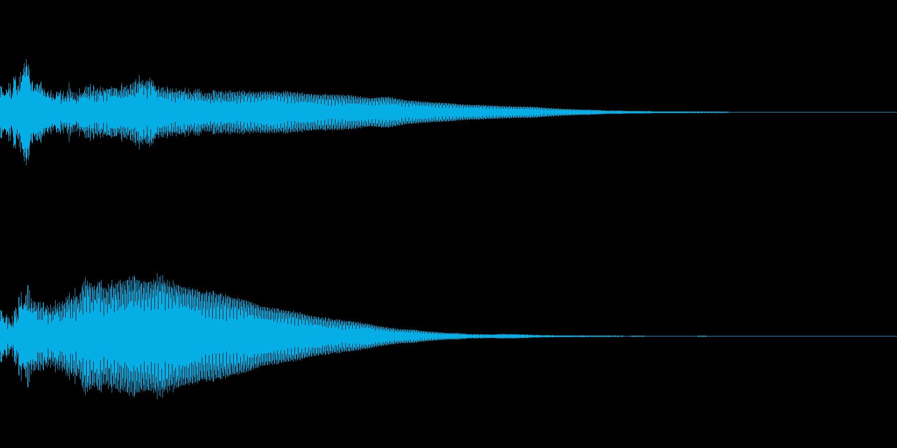 低めに響くアンビエンスの再生済みの波形