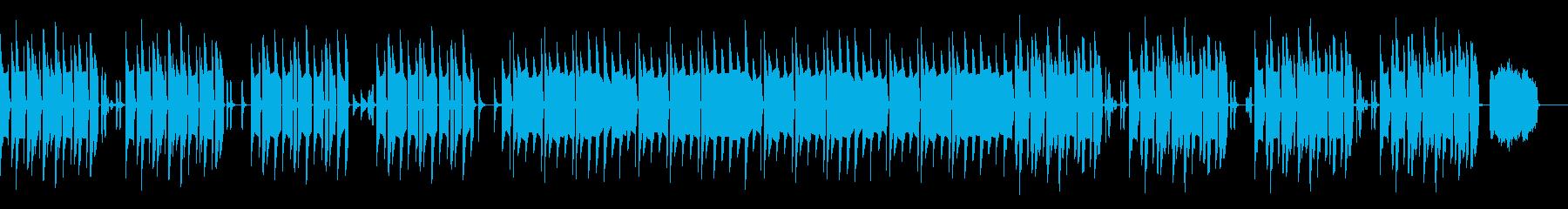 ほのぼの、コミカルな雰囲気のある曲の再生済みの波形