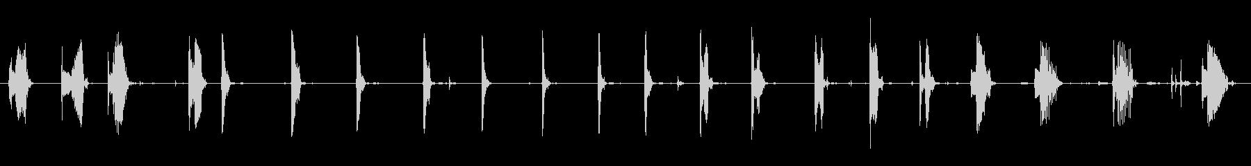ルーラートゥワング、さまざまな長さ...の未再生の波形