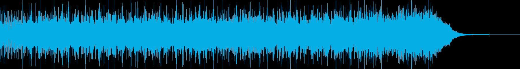 生演奏ギターのメタルインスト ジングルの再生済みの波形