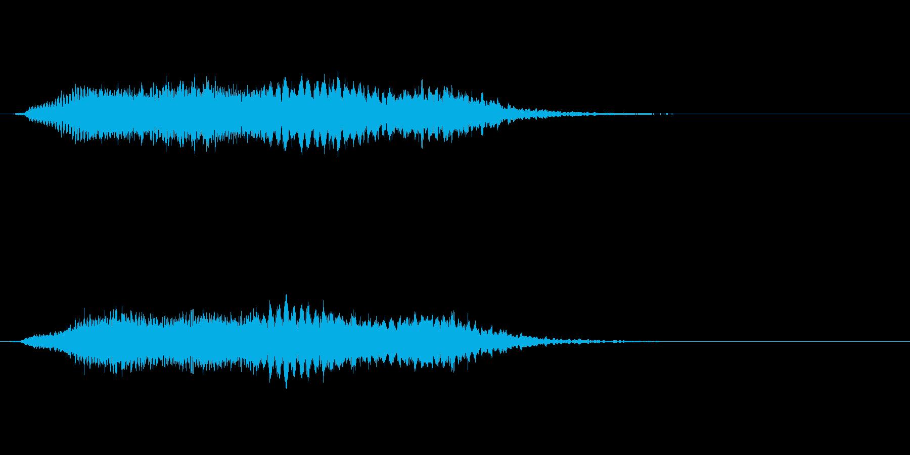 シャープな怖いメロディックロゴの再生済みの波形