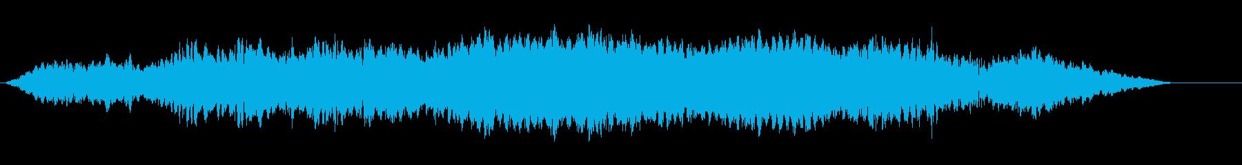 LFE付きベッドホーンティングドローンの再生済みの波形