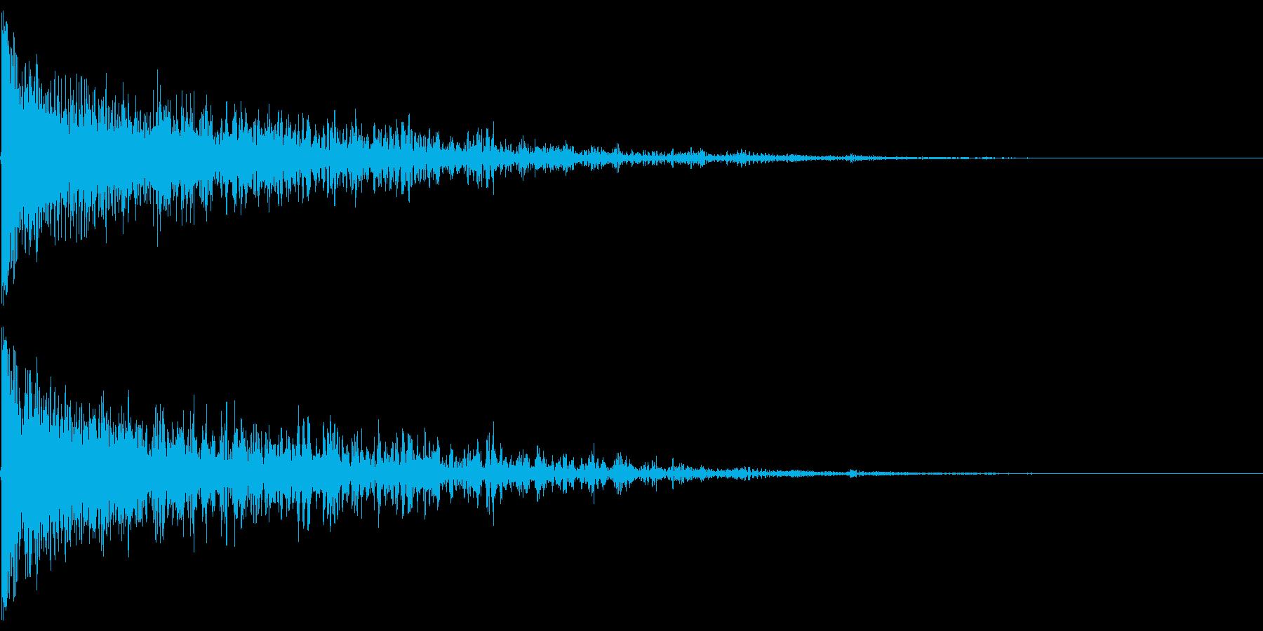 ドゥーン!シネマティックなタイトルロゴの再生済みの波形
