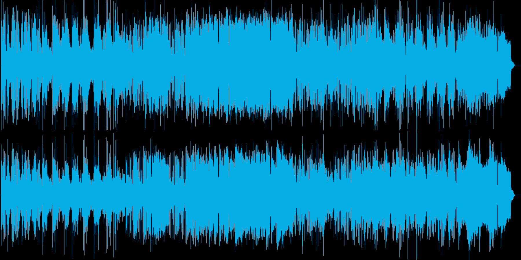 楽しげなギター・シンセなどのサウンドの再生済みの波形