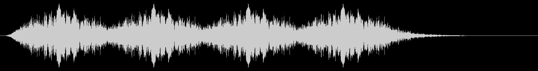 警告音 サイレン02-10(リバーブ 速の未再生の波形