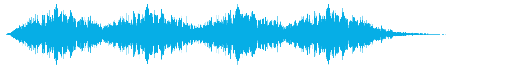 警告音 サイレン02-10(リバーブ 速の再生済みの波形