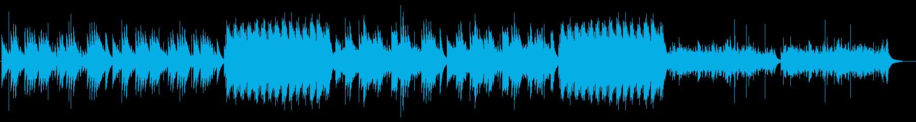 オルゴール、雪、静かなクリスマスBGMの再生済みの波形