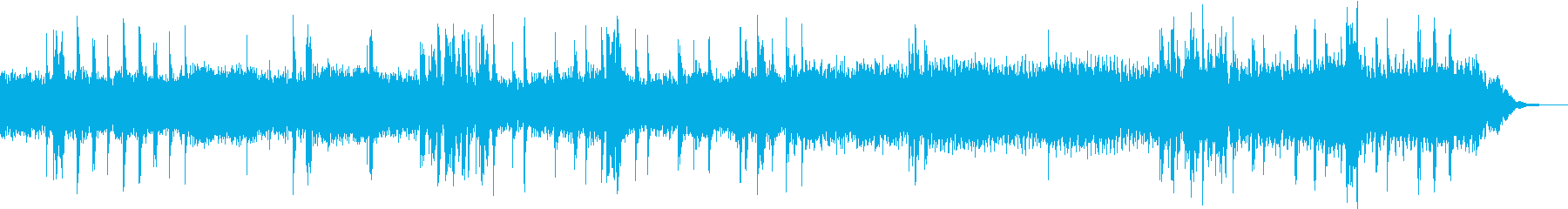 暗めな打ち込み曲の再生済みの波形