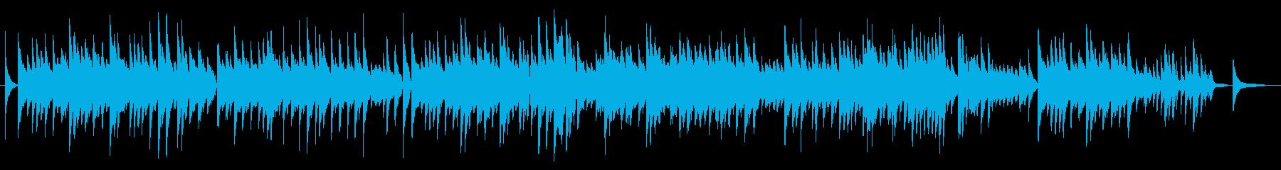 ロマンチックなピアノ曲の再生済みの波形