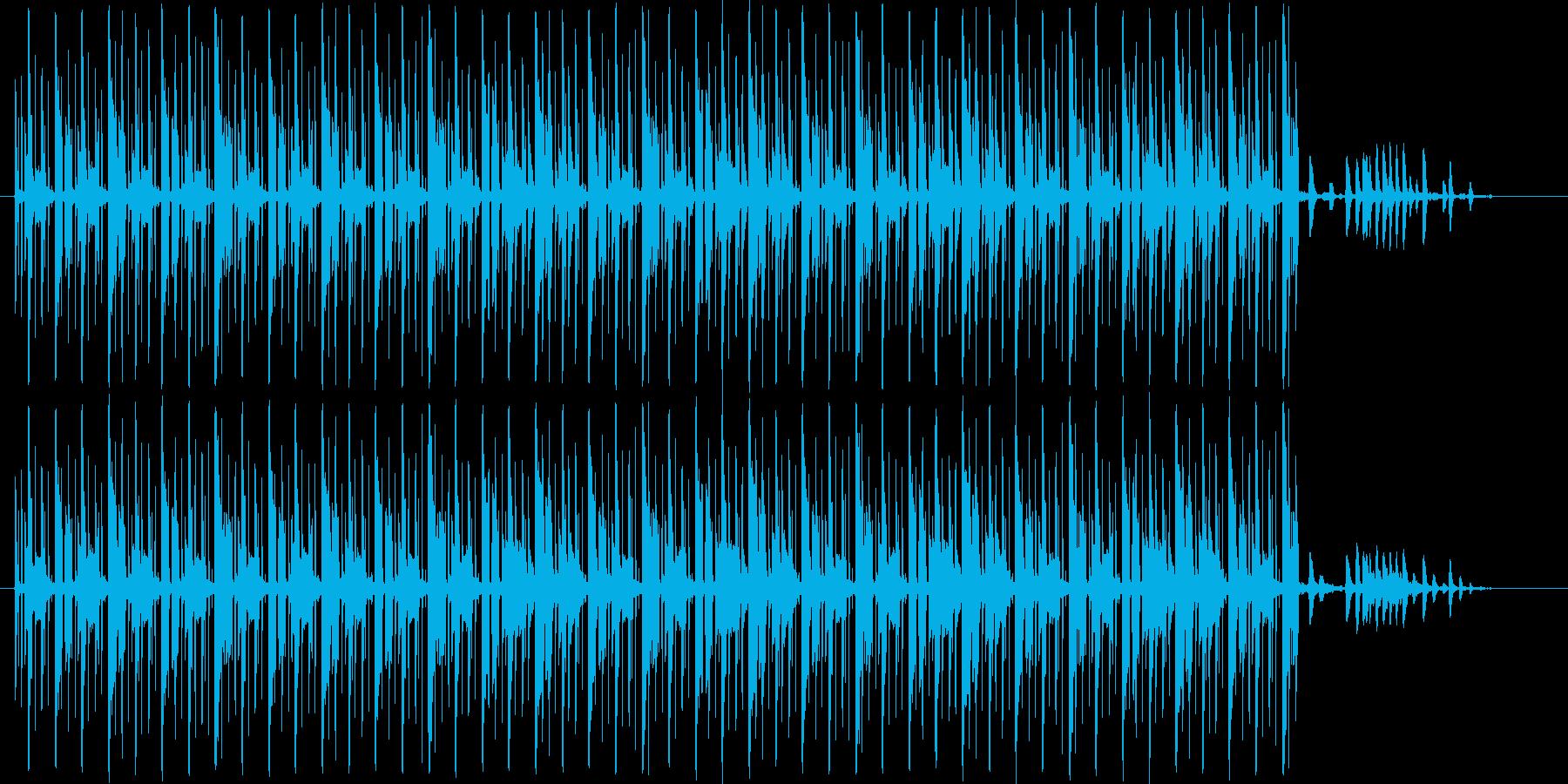 テクノです。24bit,48kHz環境…の再生済みの波形