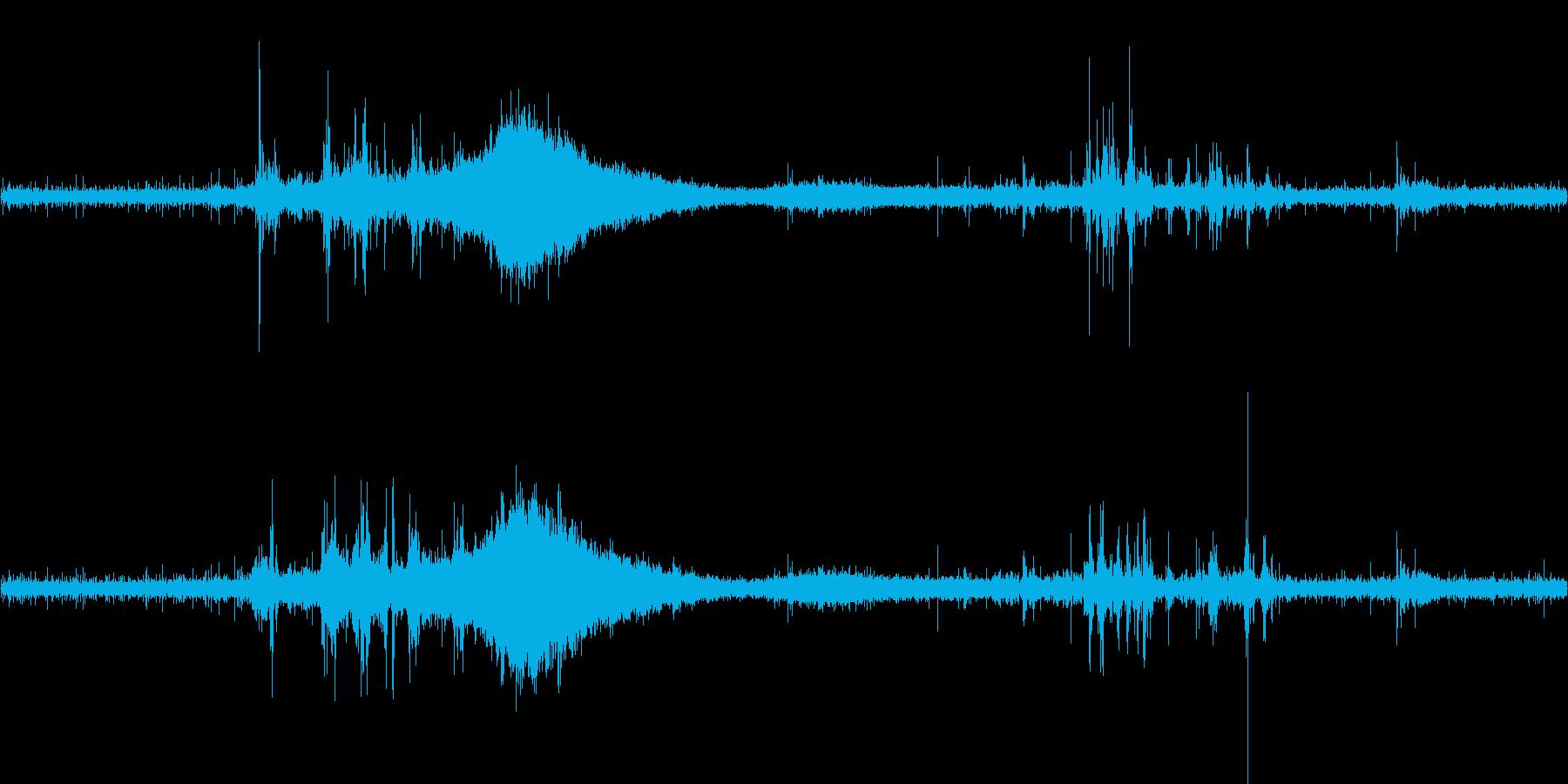 ぱらぱら・ケロケロ・ぶおーん・ぱしゃっの再生済みの波形