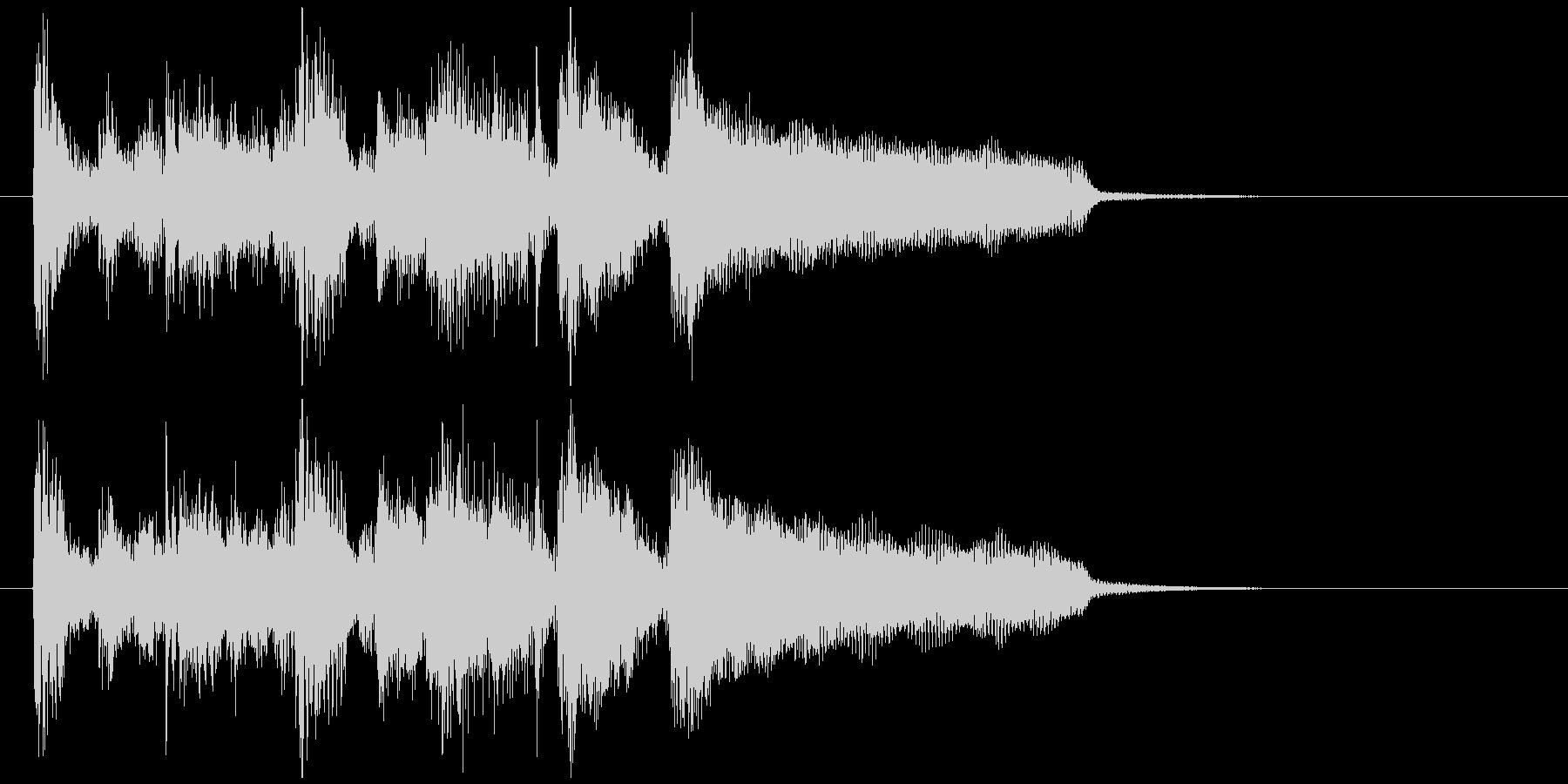 ファンキーなサックスとエレピのジングルの未再生の波形