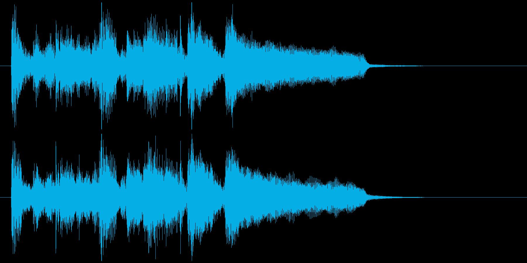 ファンキーなサックスとエレピのジングルの再生済みの波形