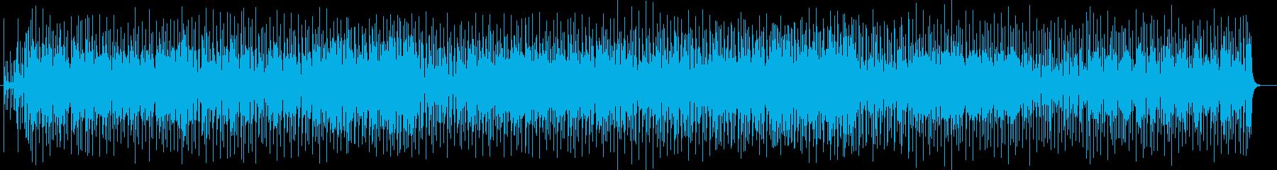 躍動感溢れるリズムミュージックの再生済みの波形