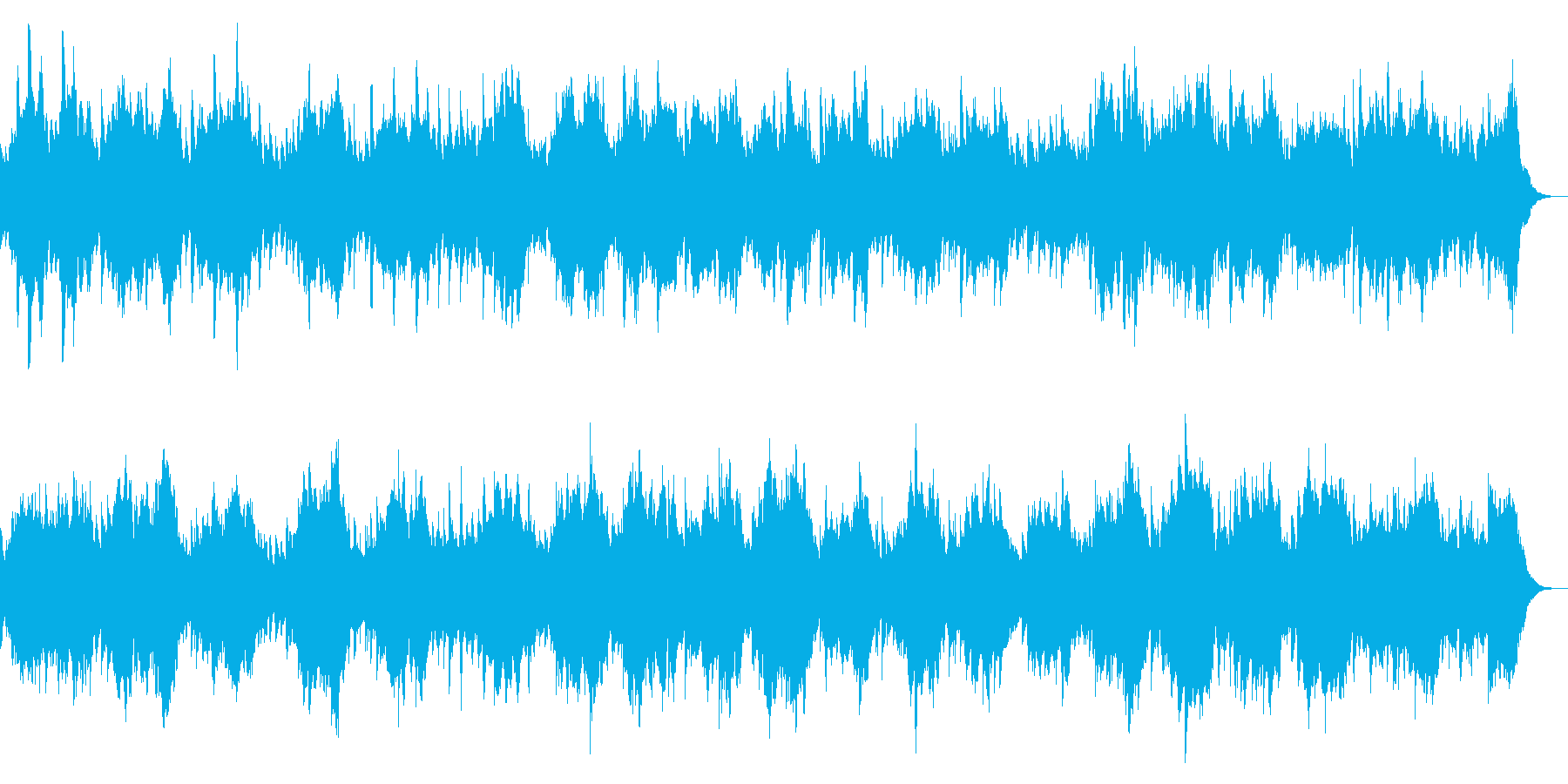ホラー向け ダークなオーケストラBGMの再生済みの波形