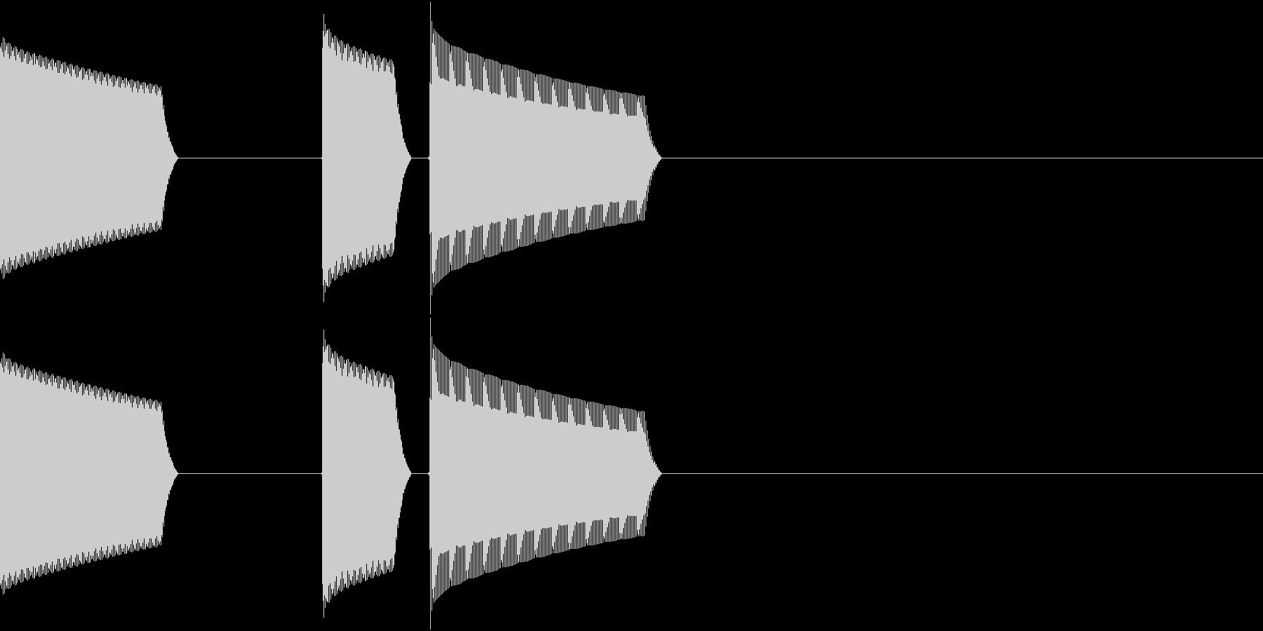 ATM 操作音 6の未再生の波形