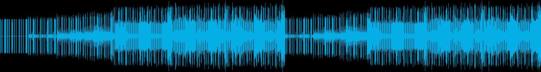 ファミコン風アクションゲームの曲の再生済みの波形