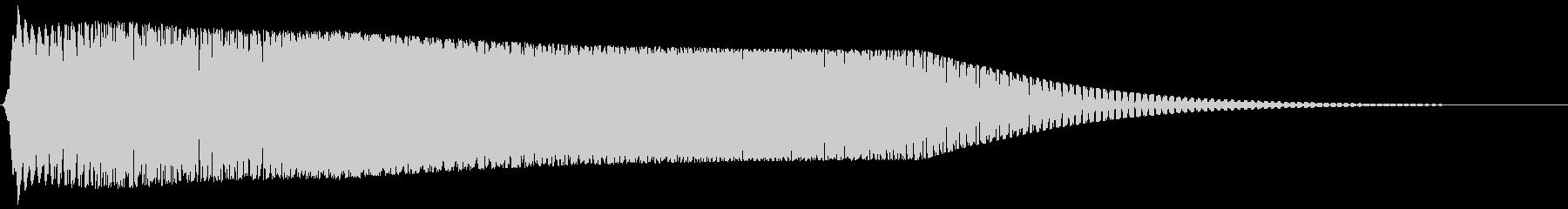 レトロゲーム風サウンドロゴ(ギュワーン)の未再生の波形