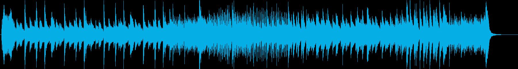 レトロでジャジー陽気なピアノソロBGMの再生済みの波形