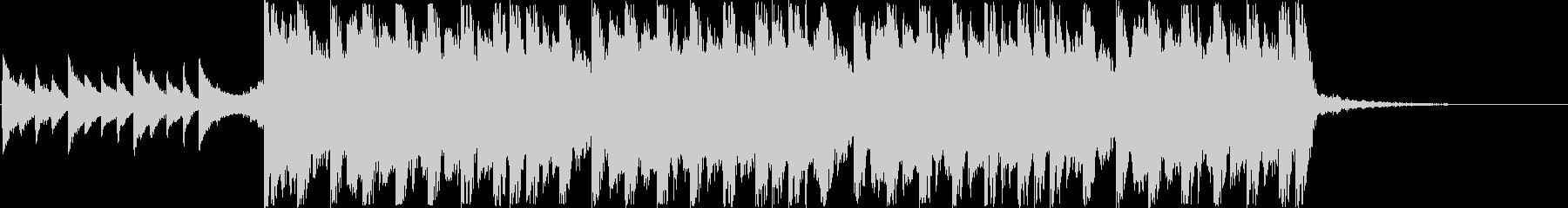 切ないクリスマスのデジタルJ-POPの未再生の波形