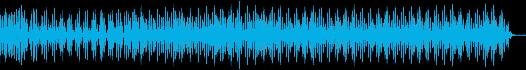 ロボ音とダークなキック音の再生済みの波形