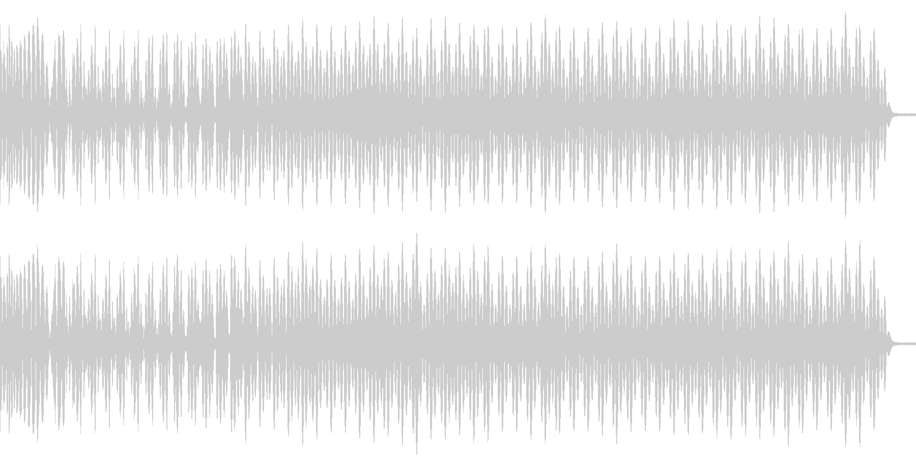 ロボ音とダークなキック音の未再生の波形