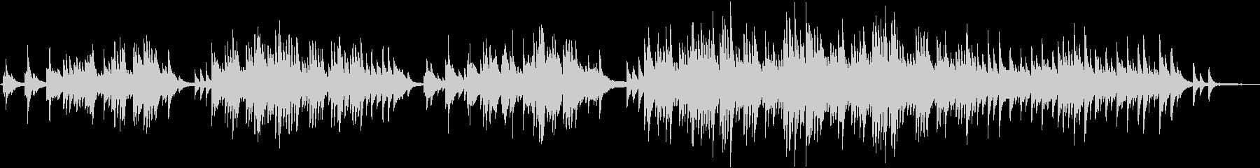 切な過ぎる感動のピアノ&ストリングスの未再生の波形