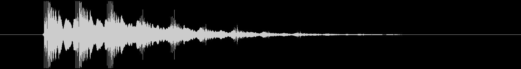 エレキギター音(場面転換)の未再生の波形