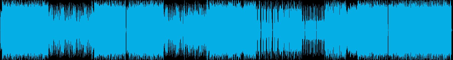 スローテンポの怒りのデジタルロックの再生済みの波形