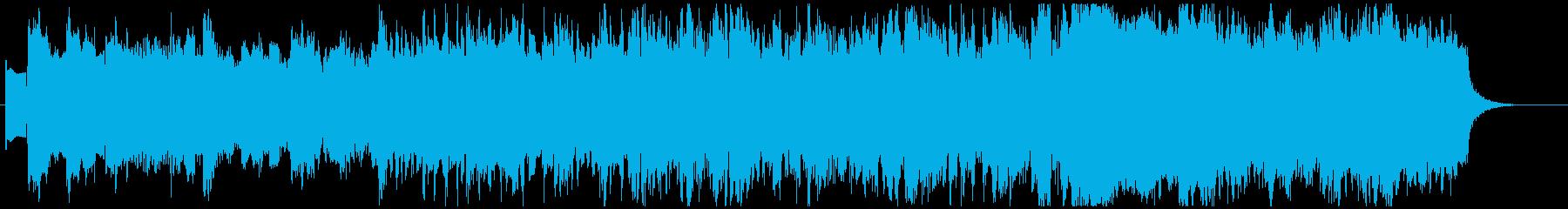 オーガニックで爽やかな朝の音楽の再生済みの波形