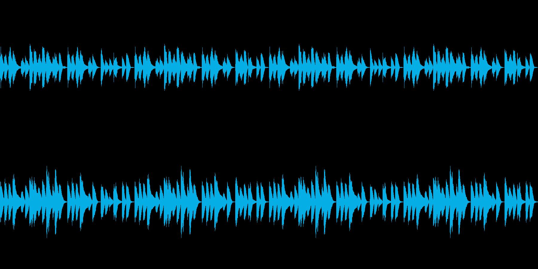 ほのぼのゆったりとしたポップなピアノの再生済みの波形