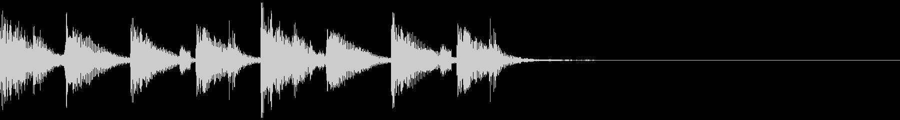 4つ打ちで刻むリズムの音の未再生の波形