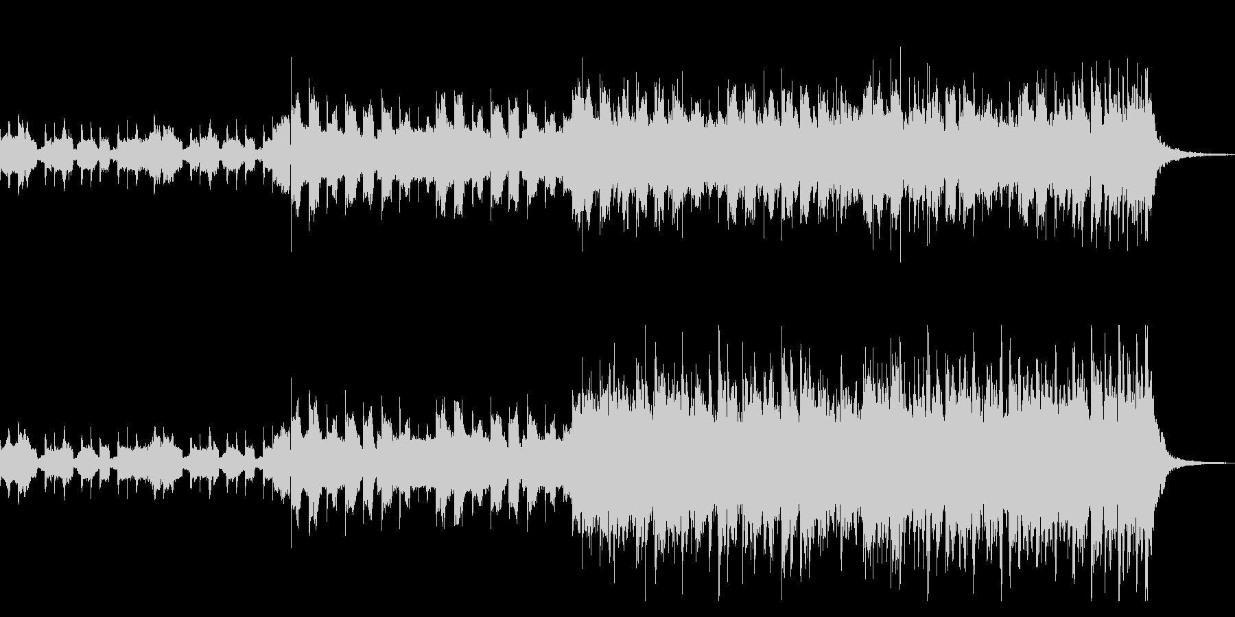 戦闘シーンなどに使えるカッコイイピアノの未再生の波形
