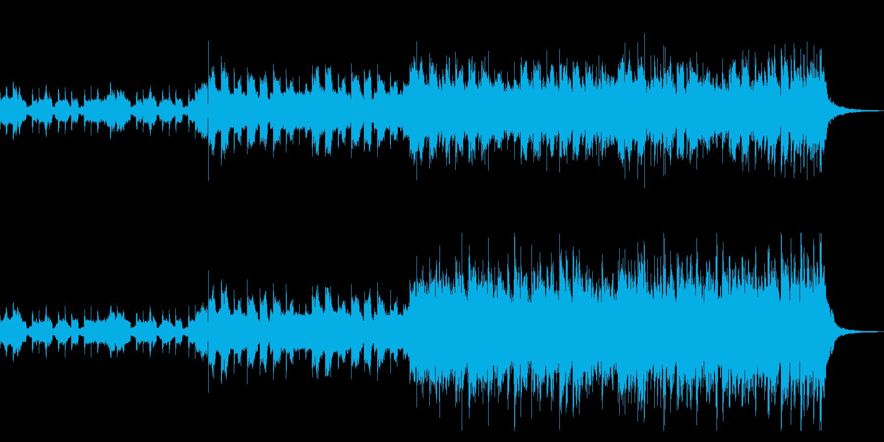 戦闘シーンなどに使えるカッコイイピアノの再生済みの波形