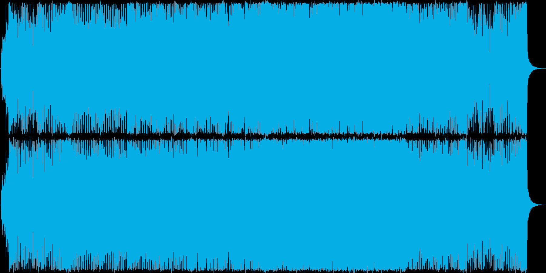 シンセメインの疾走感溢れるデジタルな曲の再生済みの波形