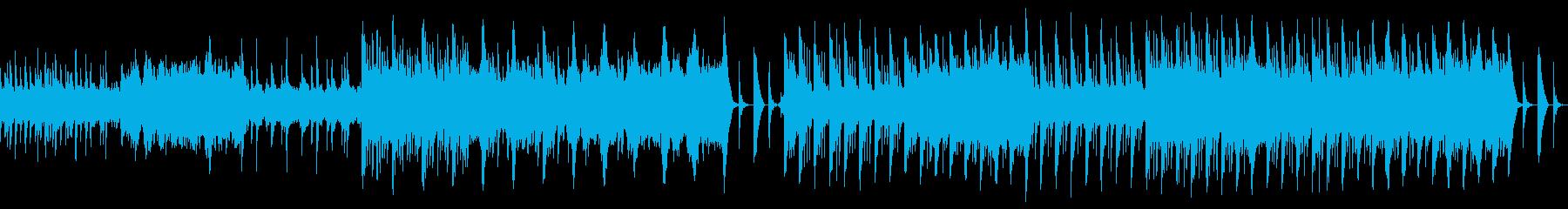 幻想的でゆったりとした和風BGMの再生済みの波形