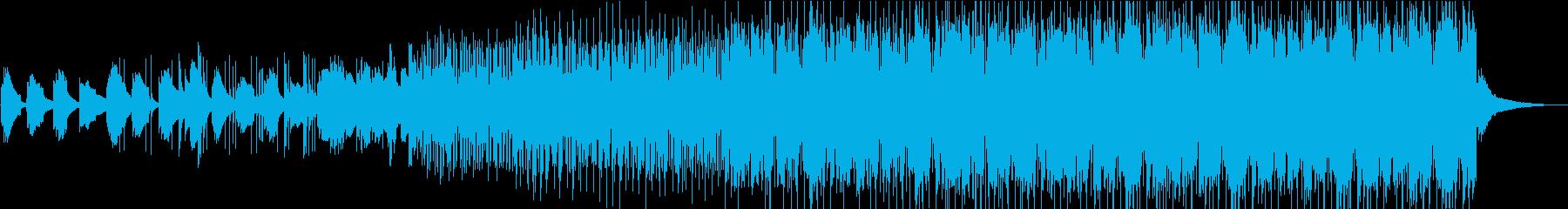 シンプルで穏やかなヒーリングミュージックの再生済みの波形