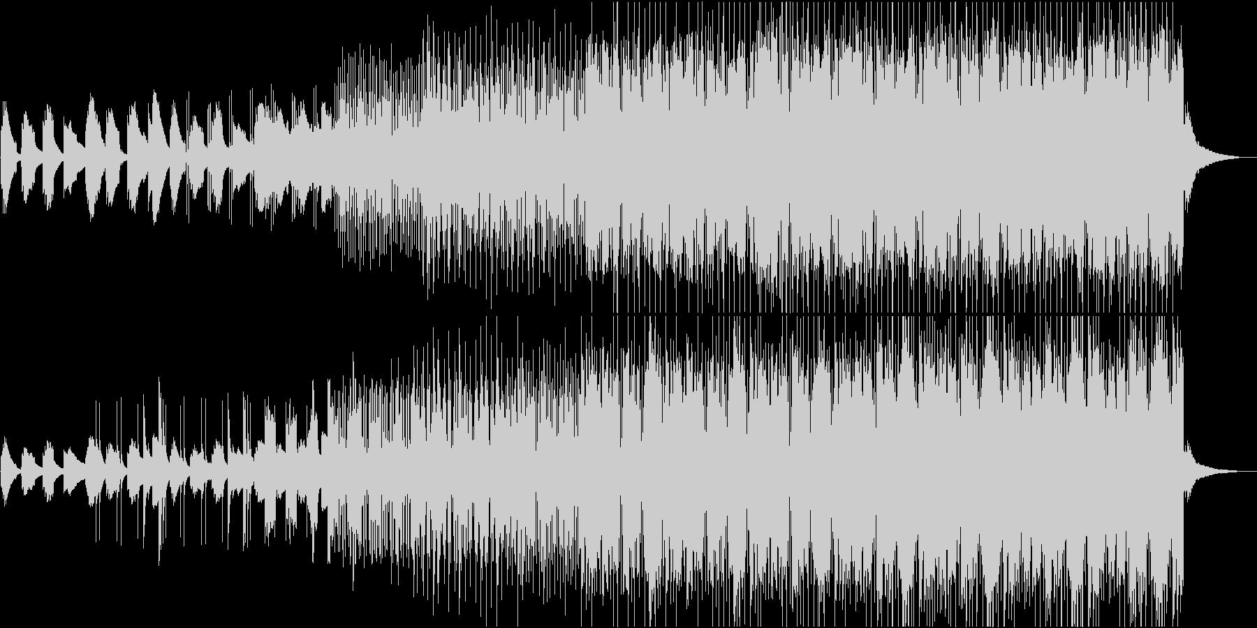 シンプルで穏やかなヒーリングミュージックの未再生の波形