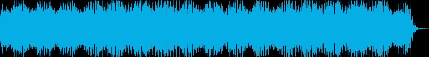 眠りを誘うリラクゼーションアンビエント曲の再生済みの波形