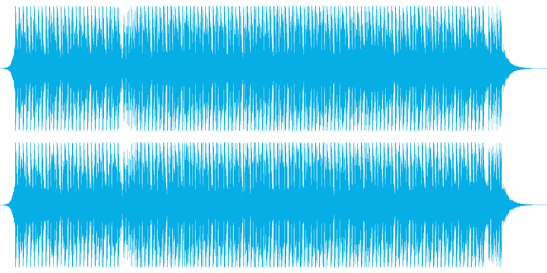 ダンスミュージック(ショート1)の再生済みの波形